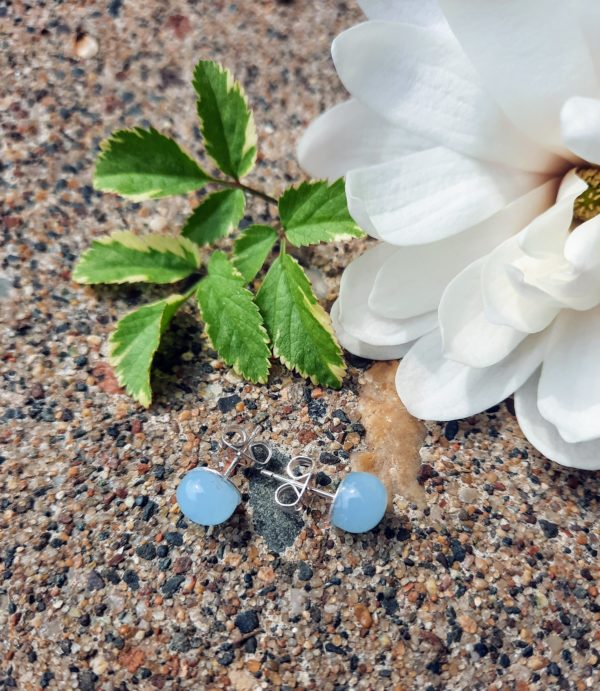 Sky blue misty post/stud earrings