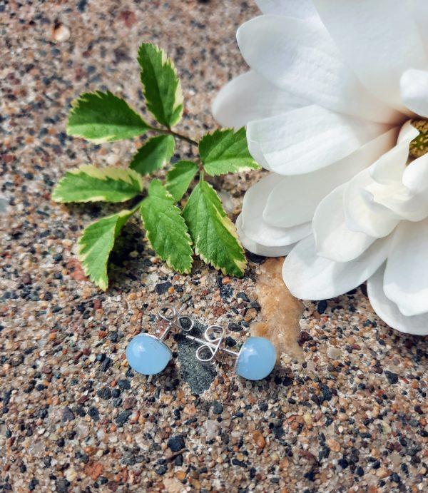 Sky blue misty post/stud earrings
