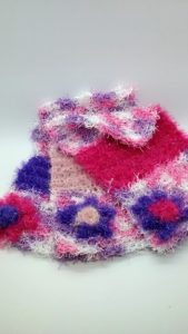 Springtime with purple, light and bright pinks dishcloths-multi