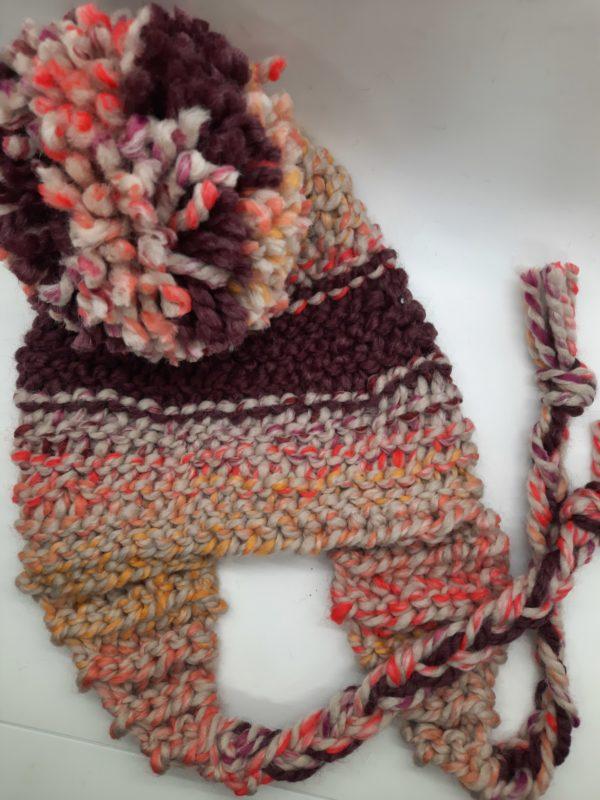 Sunset raisin stripe hat