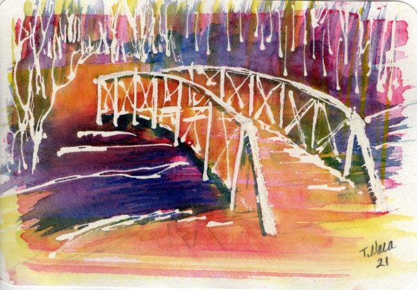 Elm Creek Bridge Orange