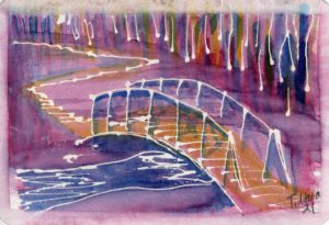 Elm Creek Bridge Purple