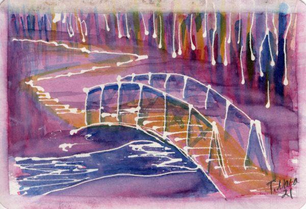 Elm Creek Bridge Purple
