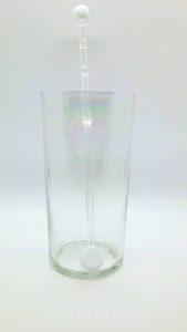 White glass swirly swizzle stick