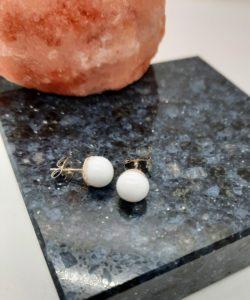 White post earrings