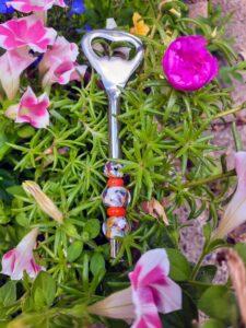 White multi color with orange bottle opener