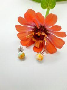Sunshine glass post/stud earrings