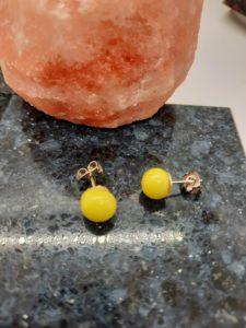 Yellow post earrings