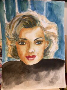 Marilyn Monroe Watercolor Portrait