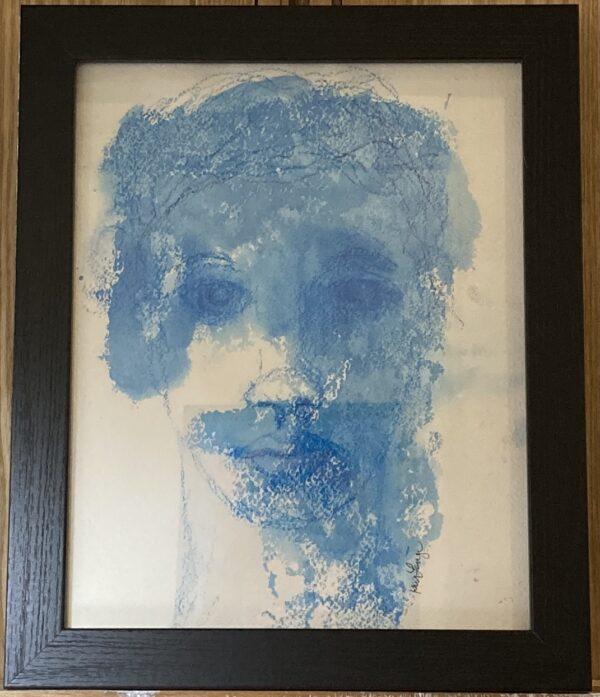 mono print portrait woman